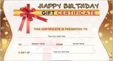Birthday Certificate Templates