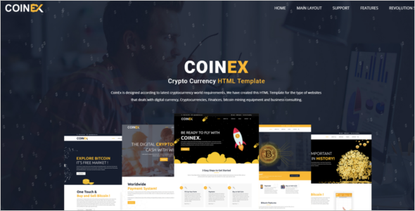 Bitcoin Currency HTML Template