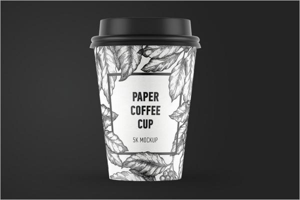 Black & White Cup Mockup Design