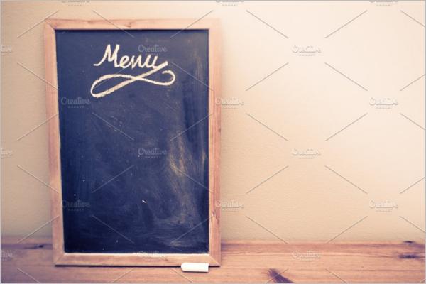 Blackboard Menu Design