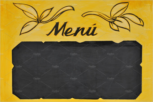 Blackboard Menu Template