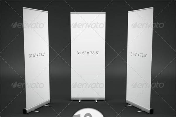 Blank Banner Mockup Design