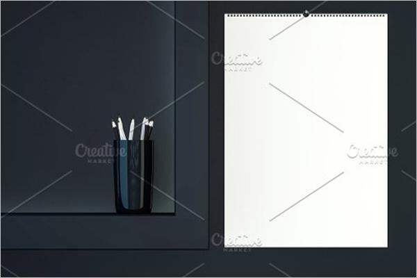 Blank Design Calendar Mockup