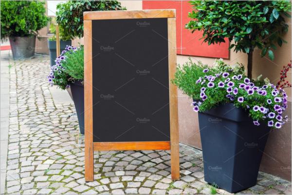 Blank Menu Blackboard Design
