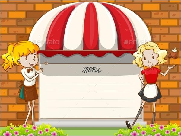 Blank Menu Board Design