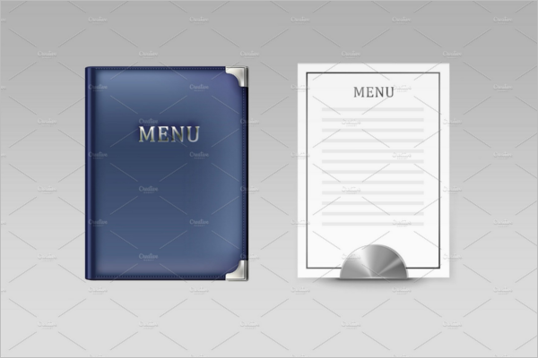 Blank Menu Book Template