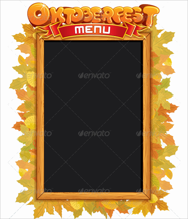 Blank Menu Vector Template