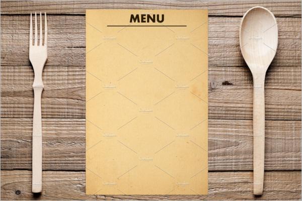 Blank Paper Menu Design