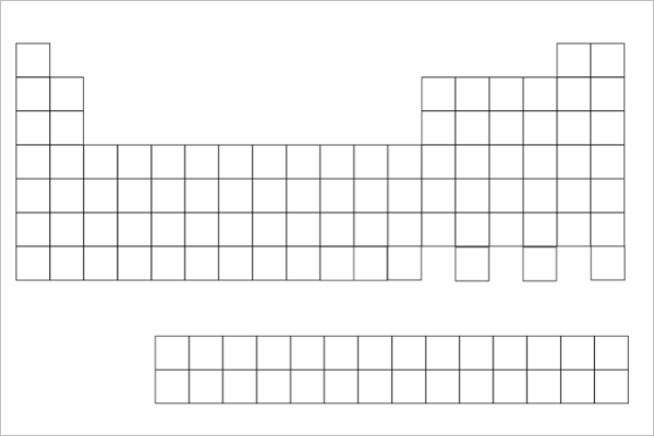Blank Periodic Table Chart Template