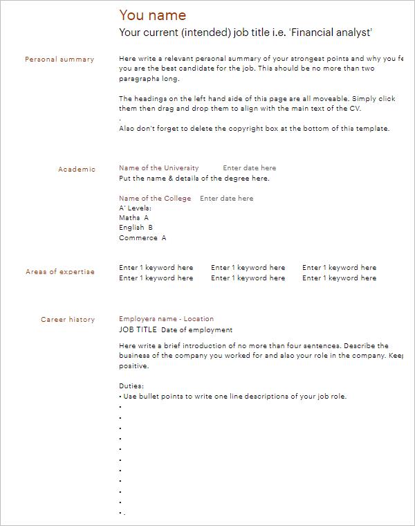 316+ Microsoft Word Resume Templates Free PDF Formats Download