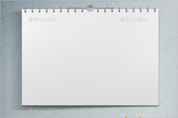 Blank Wall Calendar Mockup Design