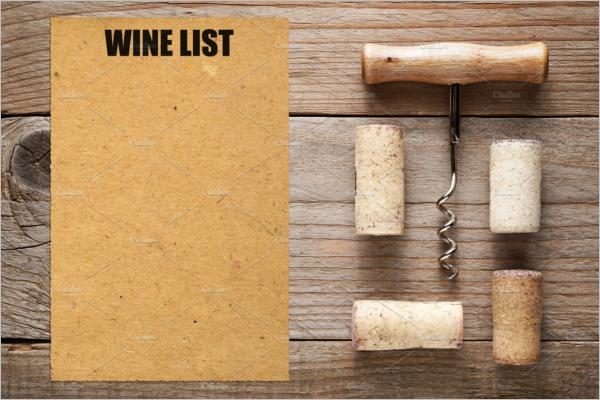 Blank Wine Menu Template