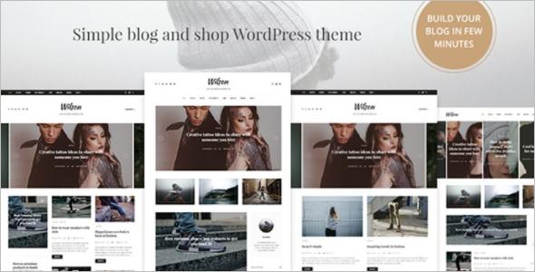 Blog & Shop WordPress Theme