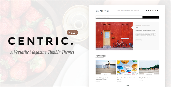 Blog Theme For Tumblr