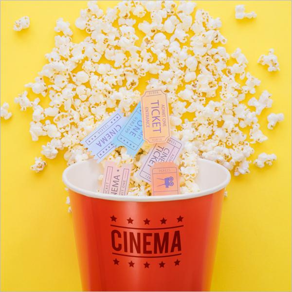 Box Of Popcorn Mockup