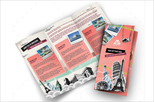 3 Fold Retro Brochure Template