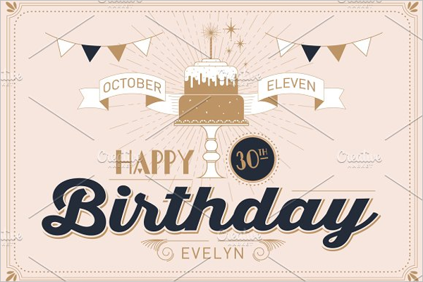 30th Birthday Banner Template