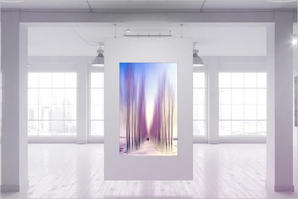 3D Poster Mockup Template