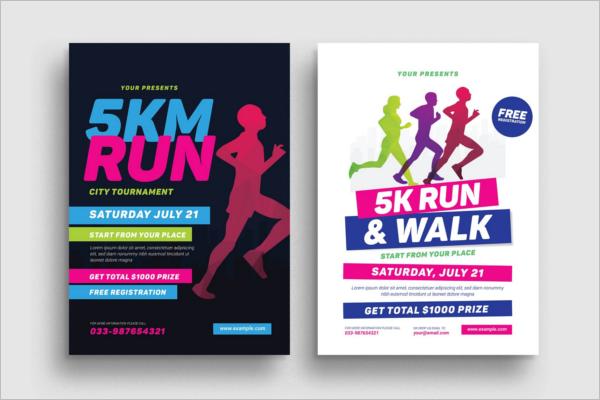 5K Running Event Flyer Template