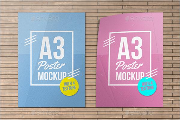 A3 Size Poster Design Mockup