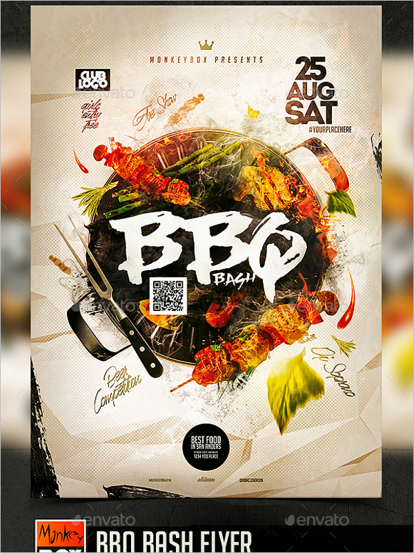 A4 BBQ Flyer Template