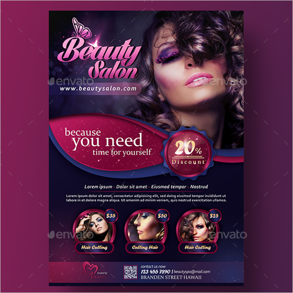 A4 Beauty Salon Flyer Design