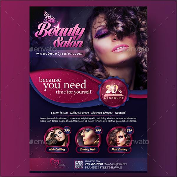 A4 Beauty Salon Flyer Design