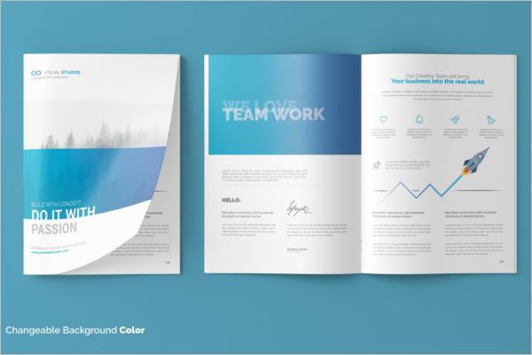 A4 Brochure Catalog Mockup Design