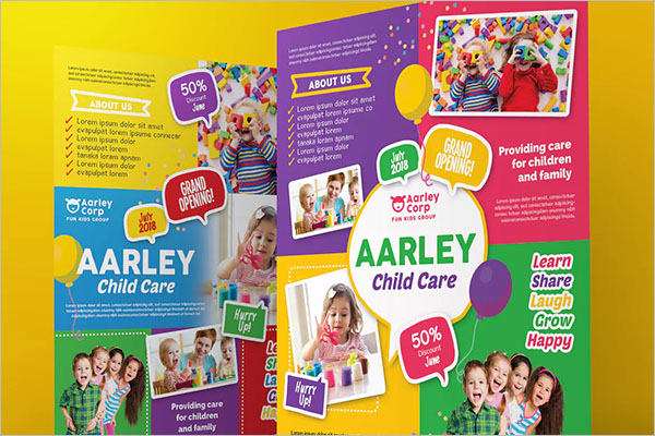 A4 Daycare Flyer Template