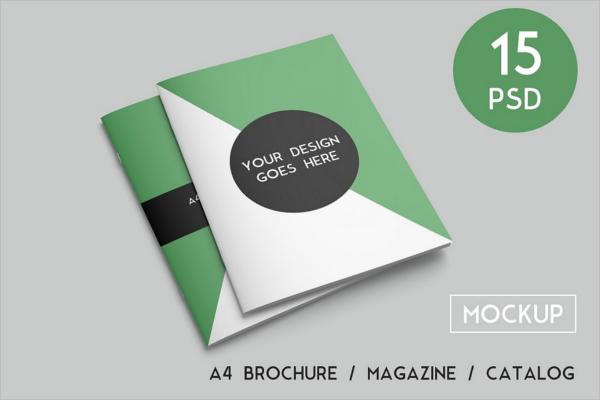 A4 Magazine Mockup Template