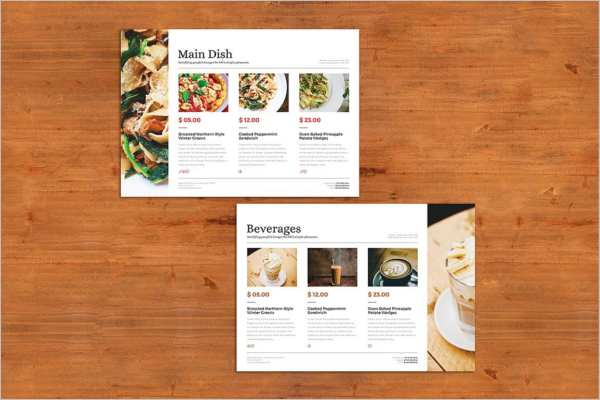 A4 Menu Template Photoshop