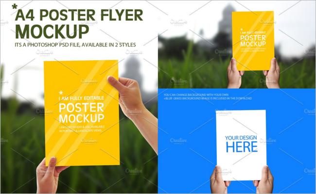 A4 Poster Mockup Design