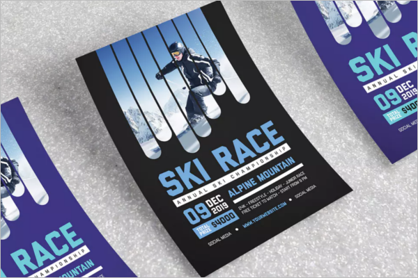 A4 Racing Flyer Template