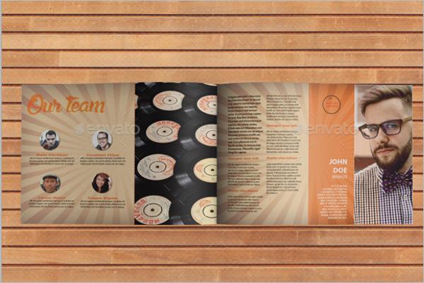 A4 Retro Brochure Template