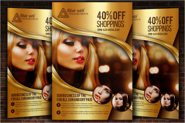 A5 Beauty Salon Flyer Design