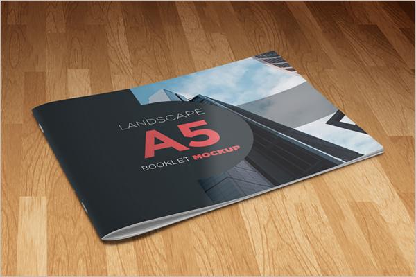 A5 Landscape Brochure Template Free