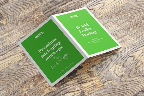 A5 Leaflet Brochure Mockup Design