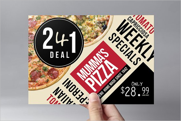 A5 Menu Flyer Template