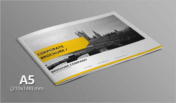 A5 Size Landscape Brochure Design