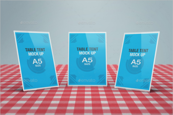 A5 Table Tent Card Mockup