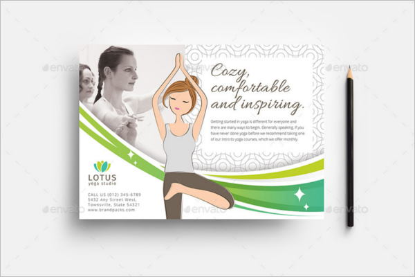 A5 Yoga Flyer Template