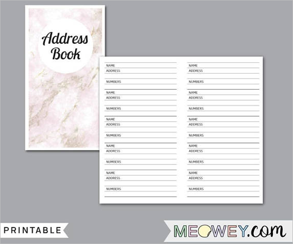 30 address book templates free word excel pdf designs