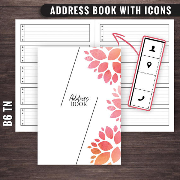 30 address book templates free word excel pdf designs for Cookbook template mac