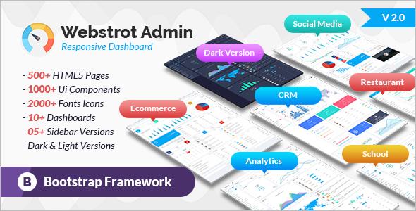 Admin Panel Bootstrap Dashboard Template