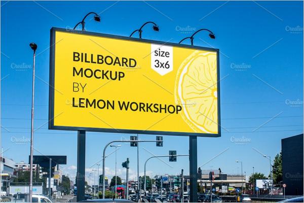Advertising Billboard Mockup Design