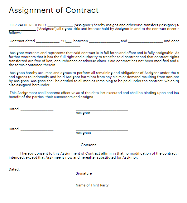 Agreement Contract Form PDF