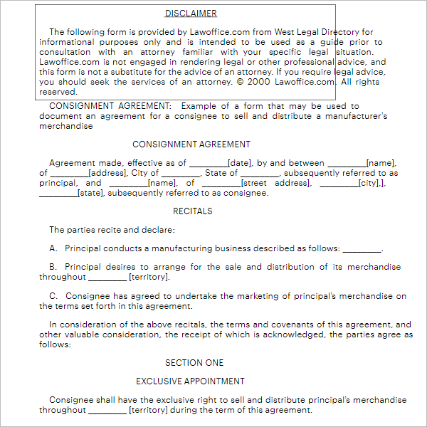 Agreement Form For Employee