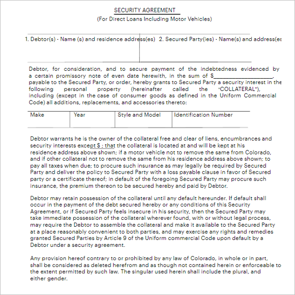 Agreement Form Template For Landlord