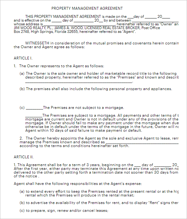 Agreement To Lease Form Template