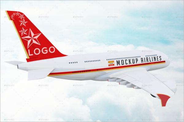 Airplane Photoshop Mockup Template
